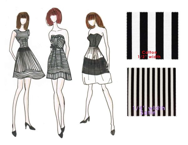 Types Of Lines In Fashion Designing : Lines and shapes understated chaos